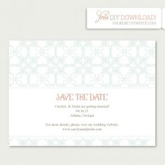 Free editable save-the-date download!