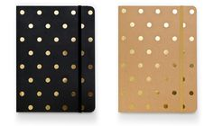 Gold Polka Dot Notebooks | Sugar Paper Los Angeles