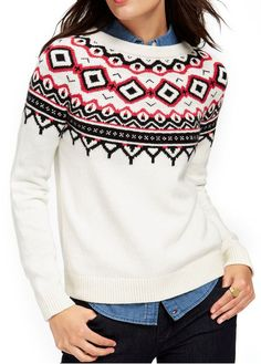 Fair-Isle Crew-Neck Sweater