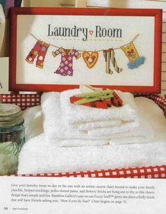 Laundry Room cross stitch