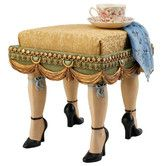Why do I love this so much? Found it at Wayfair - Folies Bergere Boudoir Stool