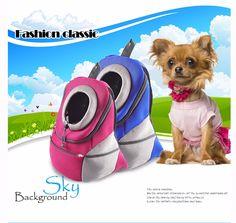 New Pet Backpack Dog Bags Dog Carrier Pet Dog Front Bag Puppy Dog Portable Travel Bag Mesh Backpack Head out Double Shoulder Bag