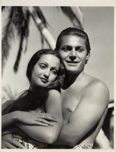 """Dorothy Lamour, Jon Hall in """"The Hurricane"""" (1937). Country: United States. Director: John Ford."""