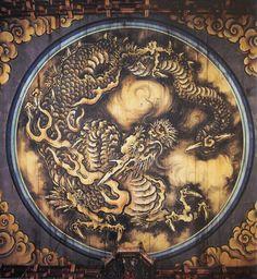 狩野探幽作『雲龍図』重要文化財。妙心寺法堂 天井鏡板