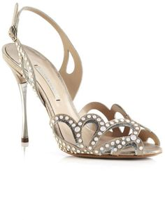 Nicholas Kirkwood Champagne Studded Sandal in Gold (champagne/silver)