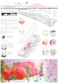 YAC Announces the winners of the 2019 Kid's Factory Competition - YAC Announces the winners of the 2019 Kid's Factory Competition - Concept Board Architecture, Architecture Presentation Board, Architecture Collage, Architecture Portfolio, Architecture Diagrams, Architectural Presentation, Architectural Models, Architectural Drawings, Rendering Architecture