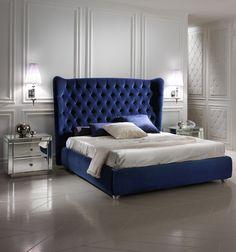 blue velvet bed - Google Search