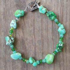Green Stone Bracelet  $8.60. Check out the variety of Necklaces too!!!