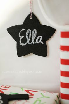 Rust & Sunshine: 12 Days of Christmas Ornaments - Day 6: Chalkboard Gift Tags