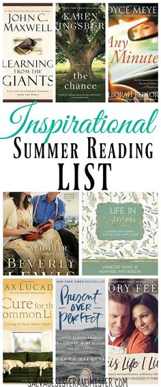 Need some good reads for the summer? Here is my inspirational summer reading book list. Find non-fiction and fiction that will inspire you toward your best life (not a perfect life). These books are from some of my favorite authors (Beverly Lewis, John Maxwell, Max Lucado, Joyce Meyers, Karen Kingsbury, and more) and most are light and easy reads.