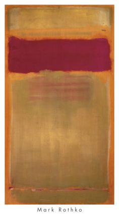 Rothko ... Reminds me of the play Red