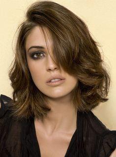 Modern Loose Wavy 100% Human Hair Bob Hairstyle Lace Wig 12 Inches