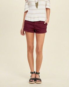 Low Rise Chino Short-Shorts