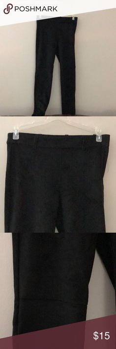 Suede leggings NWT! Suede leggings with belt loops and zipper up the side. So soft! H&M Pants Leggings