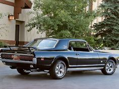 1968 Cougar..almost love as much as I  do Mustangs!  The most awesome cars.  Will they have these in heaven, again?