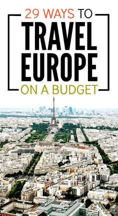 29 Ways To Travel Europe On A Budget Travel tips 2019 Heading to Europe? Lots of really amazing budget travel tips for keeping your costs down during your trip. Travel Europe Cheap, Europe On A Budget, Backpacking Europe, Europe Travel Guide, European Travel, Budget Travel, Travel Guides, Europe Trip Cost, Travelling Tips