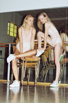 Reflété: pale girl, je t'aimais | Photographs and a Fashion Film set in a Ballet Studio: http://10and5.com/2015/02/20/reflete-pale-girl-je-taimais-photographs-and-a-fashion-film-set-in-a-ballet-studio/