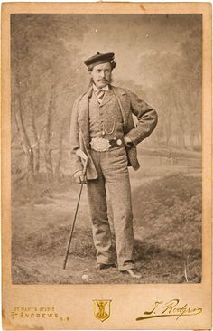 1870's Original Photograph of Young Tom Morris by Tom Rodger.