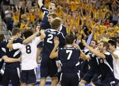 National Champions - UC Irvine Men's Volleyball celebrates winning back-to-back national championships.