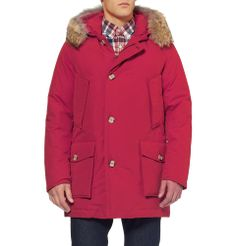 Woolrich - Byrd Cloth Arctic Parka Coyote-Trimmed Coat  MR PORTER