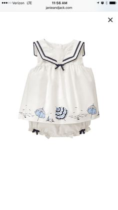 9662d8e3b12c Janie & Jack · Girls Dress Up, Flower Girl Dresses, Baby Dresses, Sailor  Collar, Baby Fashionista