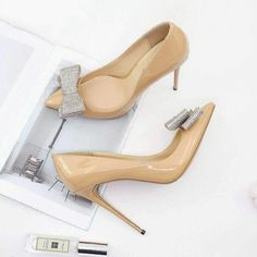 bce27d4fafcd Forever Peach Shoes · Eliza Silver Bow Pumps - Forever Peach. Classy and  sophisticated