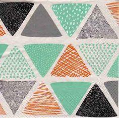 4181 Servilleta decorada geometricos