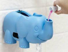 Ellie Bubble Bath / Spout Gard. Dispenses bubble bath for sudsy bath time fun. Covers bathtub faucet to protect against bumps and burns.