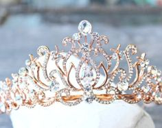 Golden Goddess Wedding maroon Crown Rose Gold Circlet by LAmei