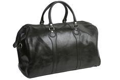 Beltrami black leather weekender bag $369