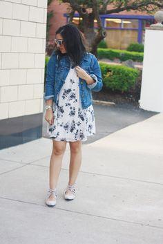 Ninesto5: Jean Jacket + Floral Dress