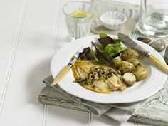 Our quick fry lemon sole with shrimp and caper butter is a meal the whole family can enjoy. It's so easy to make and is part of our inspirational 5:2 diet meal planner.