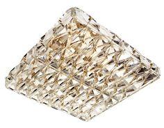 Crystal Flush Mount Ceiling Light Brass Antique Lighting — Lumizza