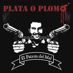 Available as T-Shirts & Hoodies, Women's Apparels, iPhone Cases, Posters… Pablo Emilio Escobar, Pablo Escobar, Narcos Pablo, Money Tattoo, Addicted Series, Stationeries, Stencil Templates, Breaking Bad, Laptop Skin