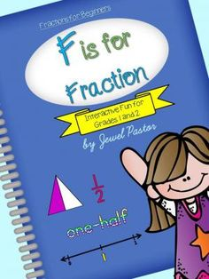 Fraction+Interactive+Fun+for+Grades+1+and+2:+F+is+for+Fraction+from+Jewel+Pastor+on+TeachersNotebook.com+-++(68+pages)++-+