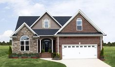 Plan of the Week: The Sterling #1073 - This small Traditional home plan is perfect for narrow lots. 3 beds, 2 baths, 1729 sq ft. Read more on our #House #Plans #Blog http://houseplansblog.dongardner.com/plan-week-sterling-1073/