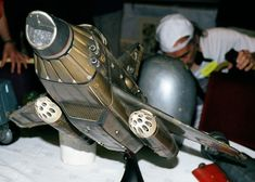 """Sky One (original) UFO Models on Display at """"Century 21"""": In October 2000, Fanderson held the """"Century 21"""" Gerry Anderson convention near Birmingham England. Here are some UFO models/vehicles which were on display in the Exhibition Room/Hotel Lobby:"""