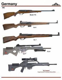 Германия: HK Model 770, HK SL-6, HK SL-7, HK Sl-8 Military Weapons, Weapons Guns, Guns And Ammo, Military Brat, Assault Weapon, Assault Rifle, Hunting Rifles, Weapon Concept Art, Cool Guns