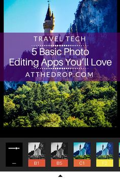 These are basic photo editing apps for the all travelers: