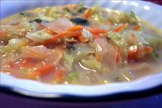 Microwave Cabbage Soup