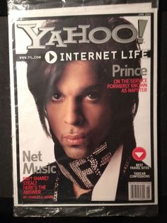 Prince YAHOO Magazine June 2001 Cover Interview BRAND NEW Internet Napster Rare