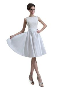 Dearta Women's A-Line Bateau Knee-Length Wedding Dresses US 16 Ivory Dearta http://www.amazon.com/dp/B00KTBQZWM/ref=cm_sw_r_pi_dp_wsEKtb0Z4XJKDXAF