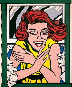 Roy Lichtenstein, Girl in Window (Study for World's Fair Mural), 1963