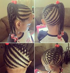 Very neatly braided