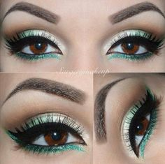 Turquoise/teal makeup