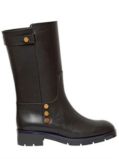 25MM LEATHER BIKER BOOTS