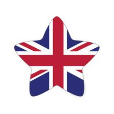 Britain UK Flag Brexit star shaped x20 stickers - sticker stickers custom unique cool diy