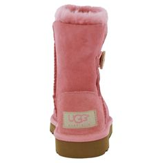 5120d36c3a4281 Ugg KIDS Bailey Button Light Pink Sheepskin Boots Shoes