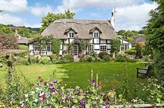 An enchanting Tudor cottage in Shropshire, England, UK. Fairytale Cottage, Garden Cottage, Cottage Homes, Storybook Homes, Storybook Cottage, English Country Cottages, English Countryside, Country Houses, Cute Cottage
