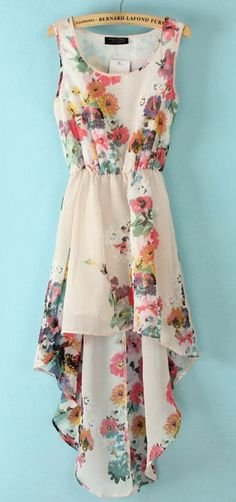 Floral High Low Dress  obsessed with high low dresses. I think I have too many of them